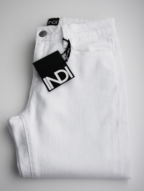 Indi custom white jeans