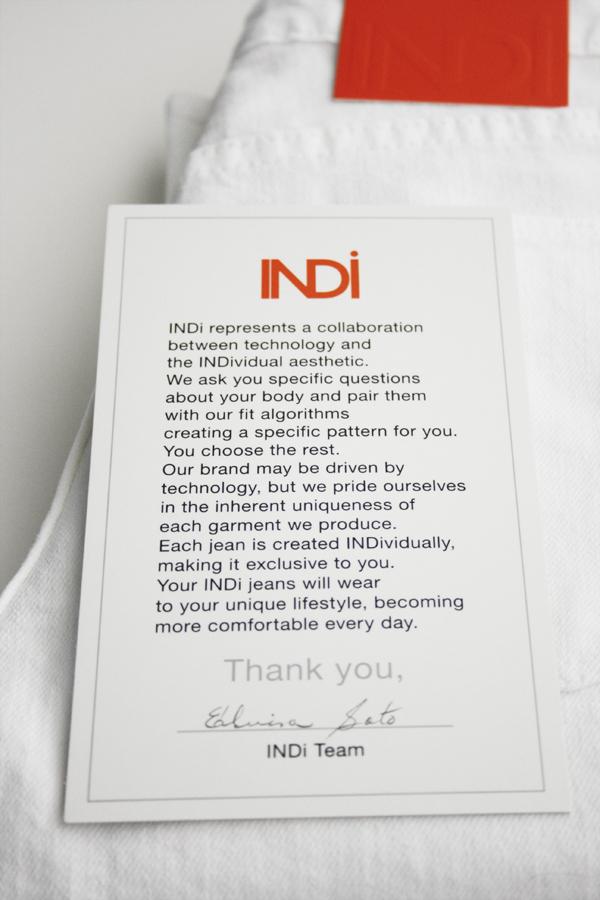 Indi Custom white denim