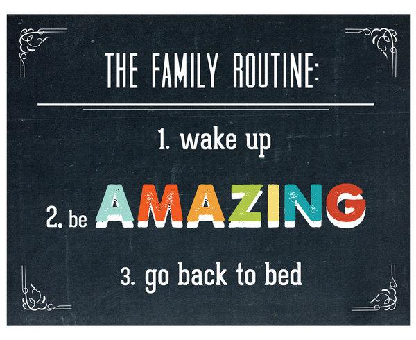 family routine