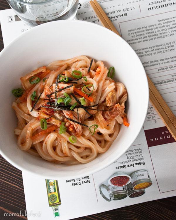 mentaiko kimchi udon