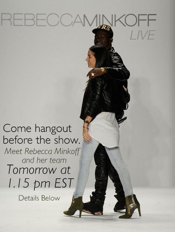 rebecca minkoff live nyfw 2012 google+ hangouts