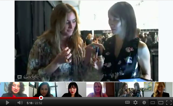 rebecca minkoff lyst google plus hangout nyfw 2012