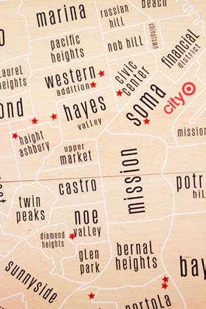 target sf map